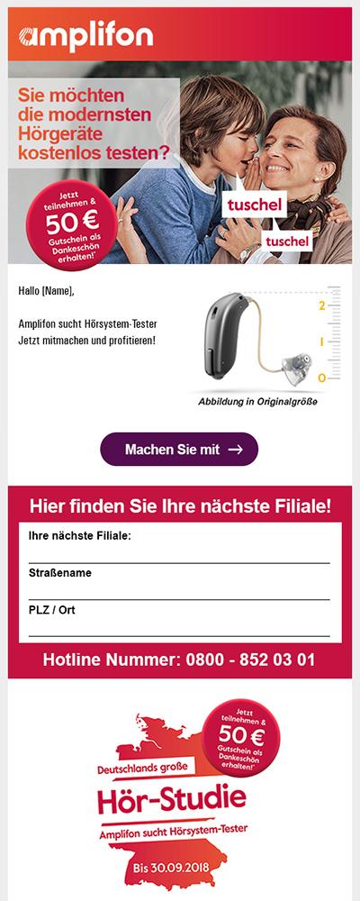 Amplifon-Leadgenerierung-E-mailtemplate-Elsovero
