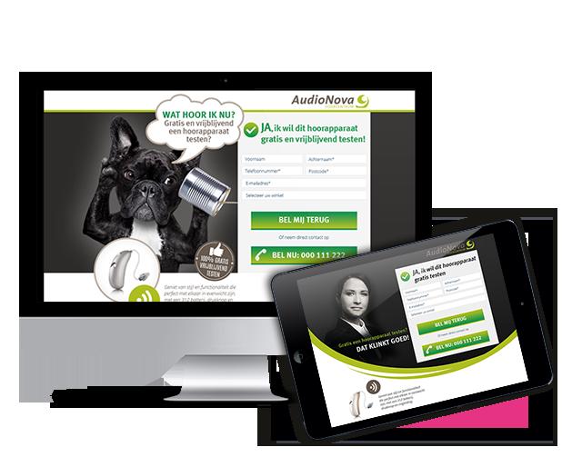 AudioNova leadgeneratie campagne - Elsovero design