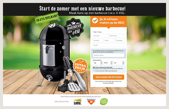 BBQ leadgeneratie campagne - Elsovero design
