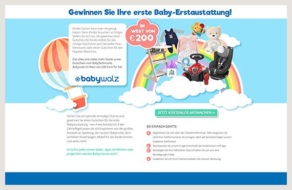 Babywalz - Leadgenerierung Kampagne - Elsovero design