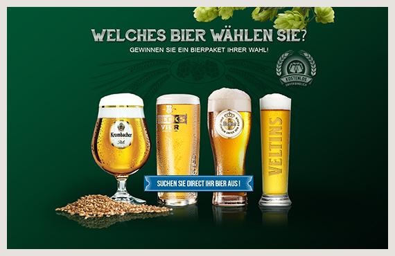 Bier gewinnen - Leadgenerierung Kampagne - Elsovero design