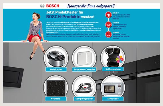 Bosch - Leadgenerierung Kampagne - Elsovero design