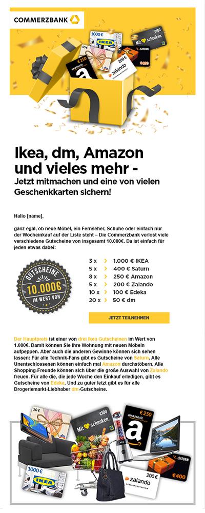 Commerzbank-Leadgenerierung E-mailtemplate - Elsovero