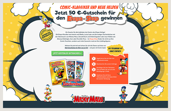 Disney - Leadgenerierung Kampagne - Elsovero design