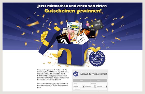 Gutscheine - Leadgenerierung Kampagne - Elsovero design
