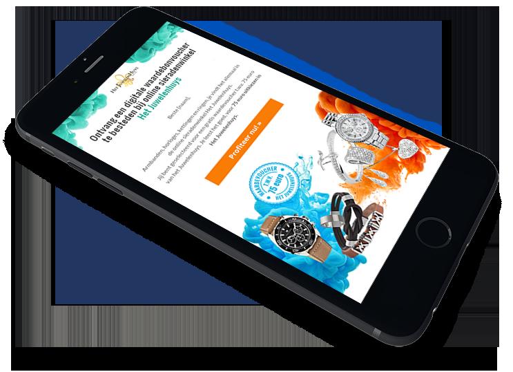 Het Juwelenhuys digitale waardebon leadgeneratie campagne - Elsovero design