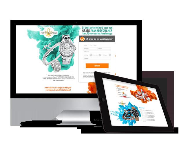 Het Juwelenhuys leadgeneratie campagne - Elsovero design
