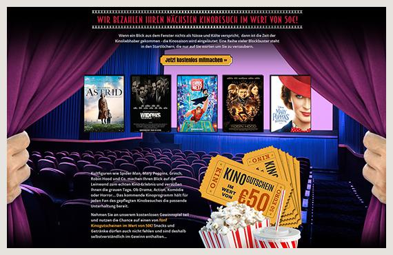Kino Gutschein Kampagne - Elsovero design