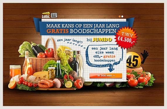 Lotto gratis boodschappen leadgeneratie campagne - Elsovero design