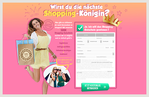 Shopping-Königin1-Leadgenerierung-Kampagne-Elsovero-design