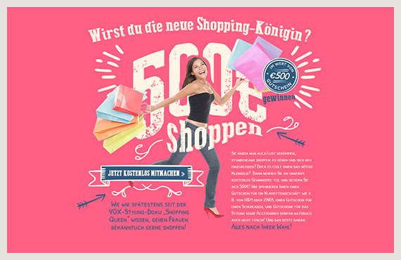 Shopping-Königin2-Leadgenerierung-Kampagne-Elsovero-design
