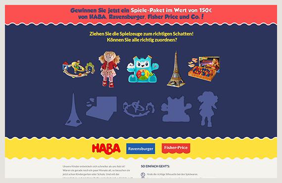 Spielzeug - Leadgenerierung Kampagne - Elsovero design