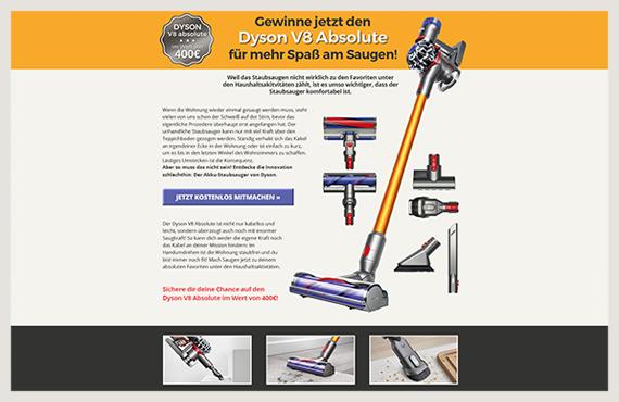 Dyson-Leadgenerierung-Kampagne-Elsovero-design